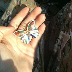 Vintage Jewelry - Rainbow Enamel Pin Brooch Vintage
